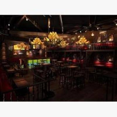 新古典, 酒吧, 吊灯, 吧台, 吧椅, 餐桌, 楼梯, 射灯