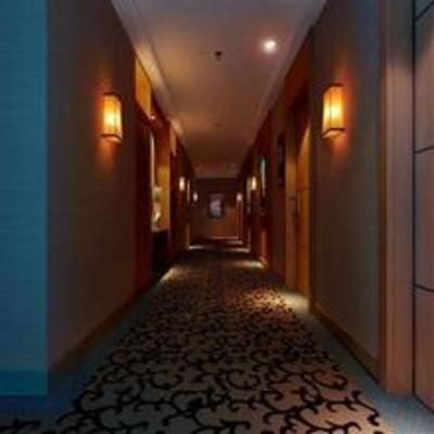 现代, 过道, 走廊, 壁灯