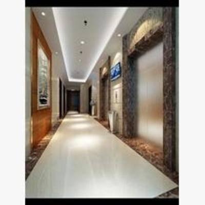 电梯, 电梯间, 现代, 挂画