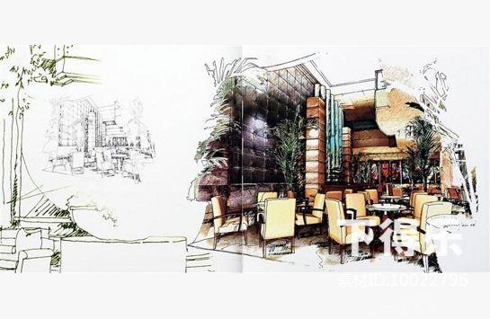林振祥酒店设计手稿,手绘