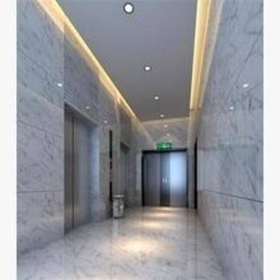 现代, 电梯间, 走廊
