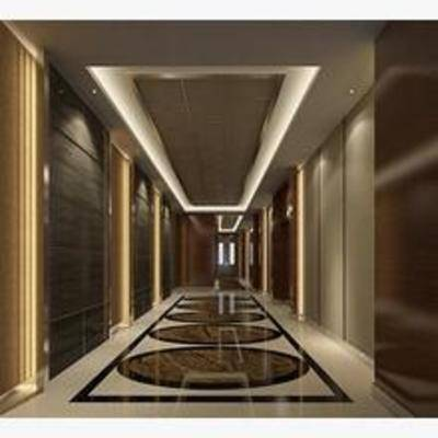 餐厅过道, 欧式, 现代, 过道, 走廊