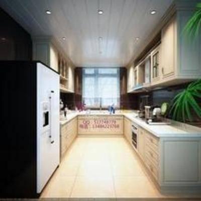 田园, 厨具, 橱柜, 厨房, 灶台, 料理台