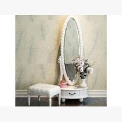 梳妆台, 田园梳妆台, 梳妆镜, 盆栽, 摆件, 美式田园