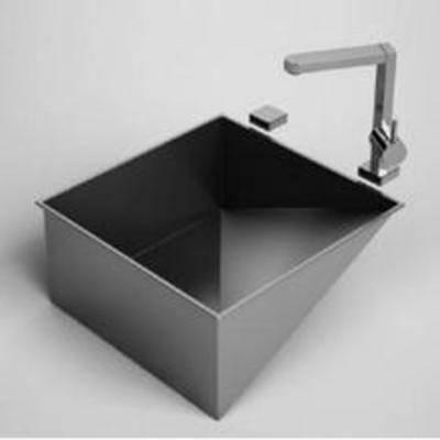 不锈钢, 厨具, 现代, 洗手盆