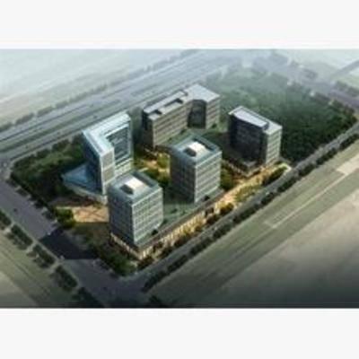 现代, 商业楼, 鸟瞰图