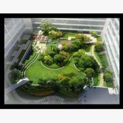 现代, 中庭, 鸟瞰图