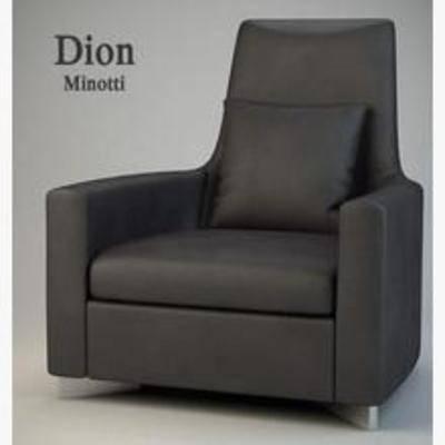 简约沙发, 沙发, 单人沙发, 现代
