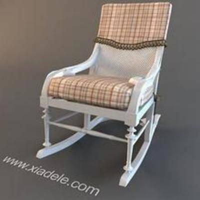 田园摇椅, 田园椅子, 摇椅, 3D模型下载, 椅子