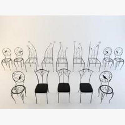 田园椅子, 椅子, 铁艺椅子, 美式田园椅子