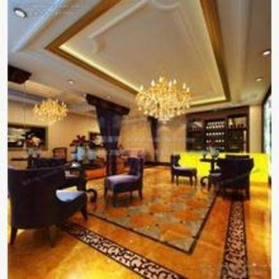 欧式, 酒吧, 吊灯, 单椅, 地毯, 酒架