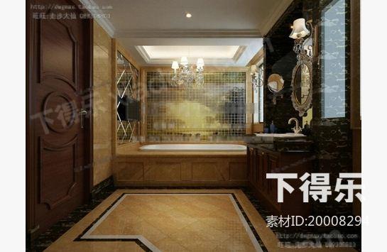 欧式豪华洗手间37_3d模型下载