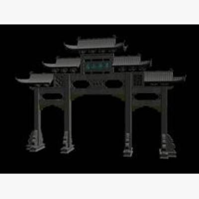 碑坊, 古代中式, 古建