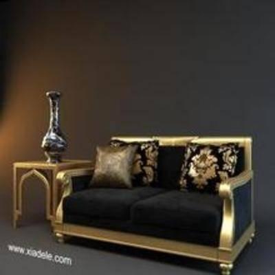 后现代沙发, 沙发, 后现代, 双人沙发