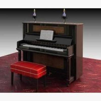 乐器, 现代, 方形, 钢琴, 音乐, 模型