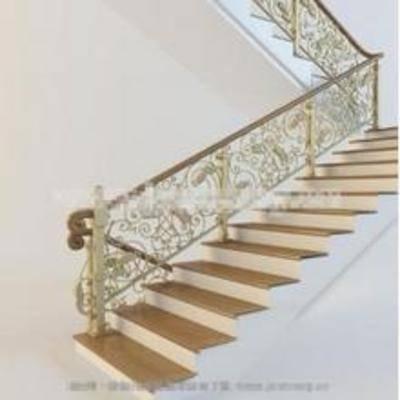 旋转楼梯, 欧式, 花雕