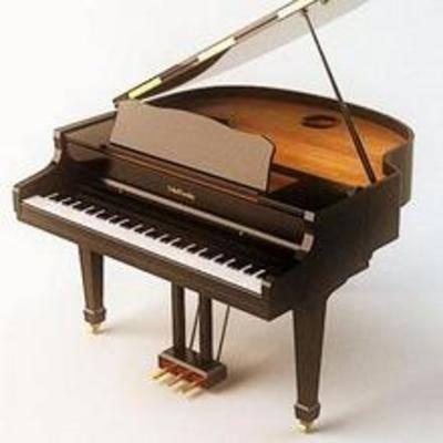 乐器, 现代, 钢琴, 设备, 音乐, 模型