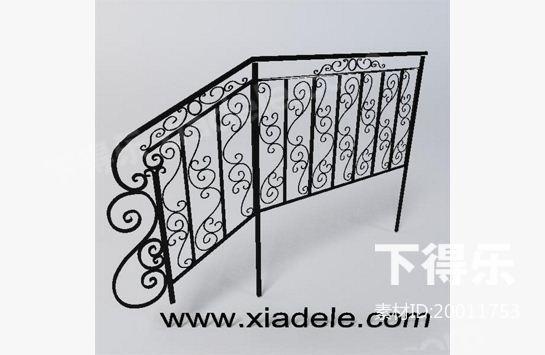 栏杆2__3d模型免费下载_下得乐3d模型网xiadele.com