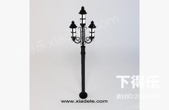 欧式路灯 3d模型下载,路灯