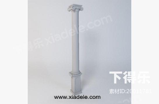 首页 素材库 素材列表 单体模型 构件 > 柱子