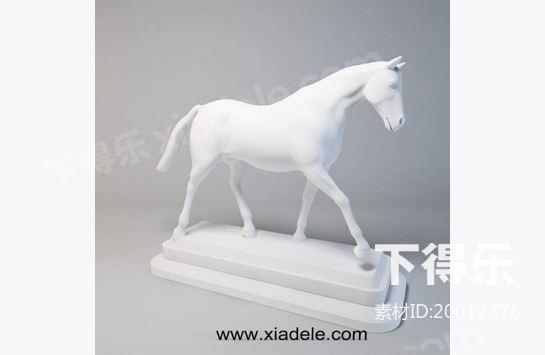 马雕塑品_下得乐3d模型网xiadele.com