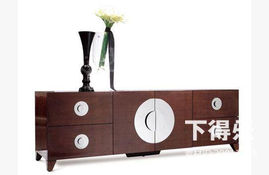 新中式木质地柜式电视柜