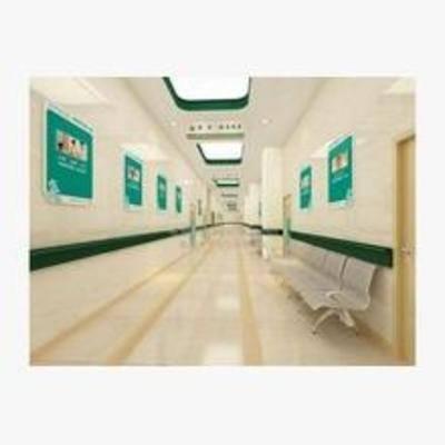 医院, 现代, 椅子, 走廊