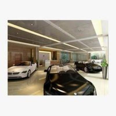 现代, 汽车, 展厅, 展柜, 展览, 展位, 展会