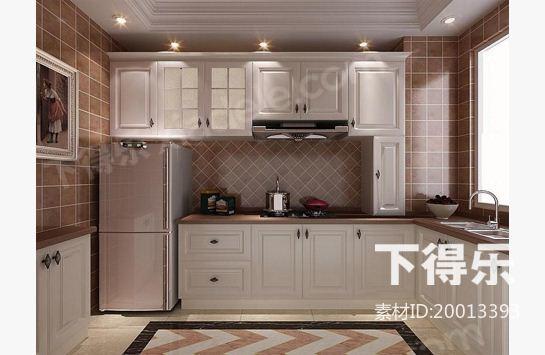 厨房材质贴图手绘
