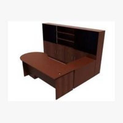 现代, 办公桌, 置物柜