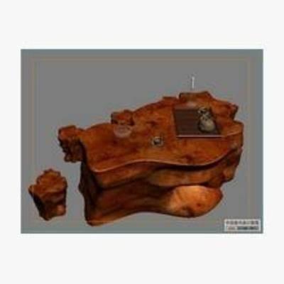根雕, 中式, 根雕茶几, 根雕茶桌