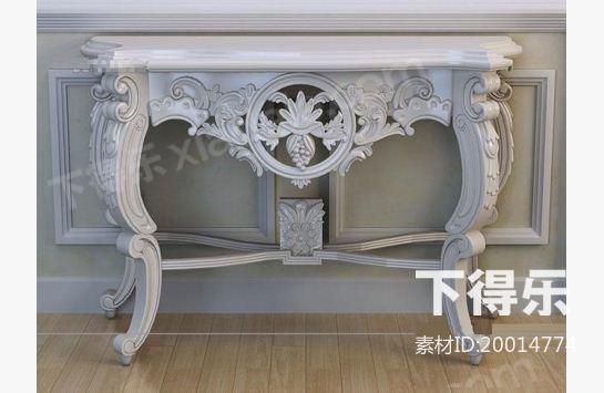 欧式木质端景台 3d模型下载