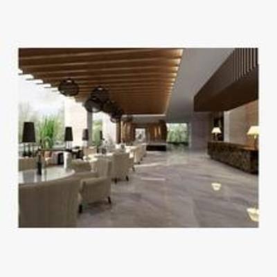 现代, 沙发, 茶几, 台灯, 边柜, 餐厅