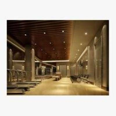 3d健身房模型, 健身室模型