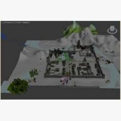 中式, 河阳城, 鸟瞰图