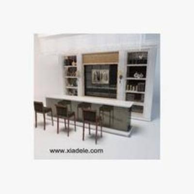吧台, 吧椅, 现代, 柜子, 酒柜, 红酒柜, 壁柜酒柜组合