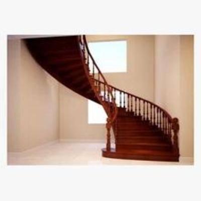 楼梯, 旋转楼梯, 实木