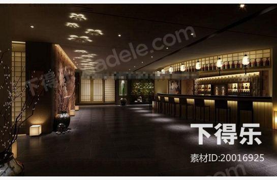 日式酒水吧台,酒吧