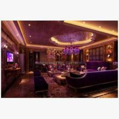 后现代, ktv, 沙发, 桌几, 墙饰, 地毯, 吸顶灯, 壁灯