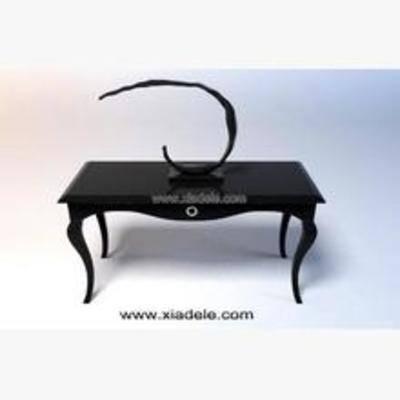 装饰品, 木质桌子, 桌子, 端景台, 后现代木质端景台