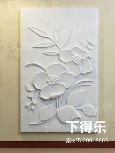 花卉浮雕_下得乐3d模型网xiadele.com