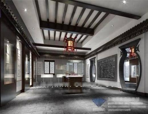 中式, 博物馆, 吊灯, 摆件