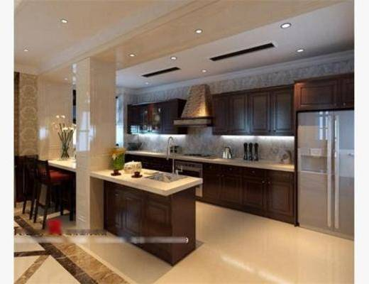 现代, 厨具, 厨房, 橱柜, 料理台, 餐桌