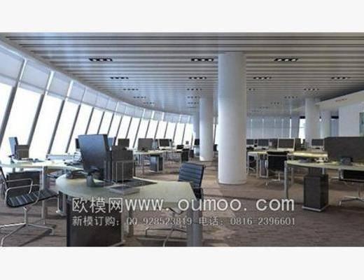 现代, 办公室, 书桌, 椅子