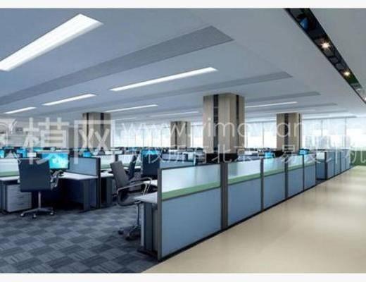 现代, 办公桌, 单椅, 办公室, 地毯