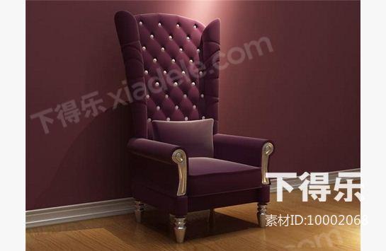 欧式沙发 3d模型下载