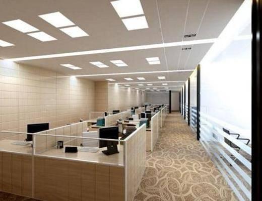 现代, 办公室, 办公桌, 单椅, 地毯