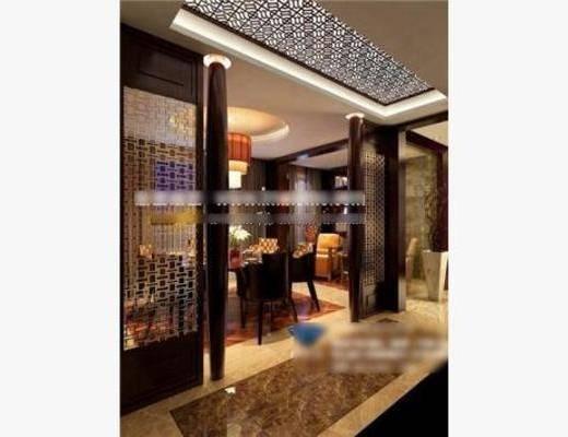 新中式, 包房, 餐桌, 椅子, 吊灯