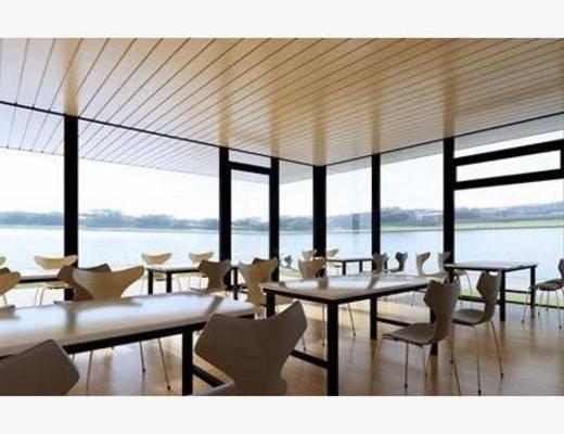 后现代, 椅子, 餐桌, 餐厅