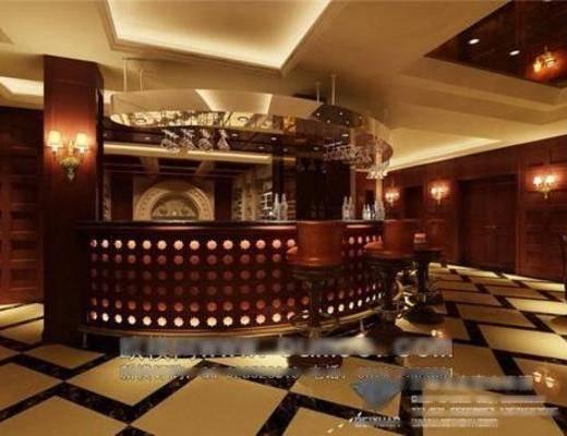 新古典, 酒吧, 吧台, 吊灯, 壁灯, 吸顶灯